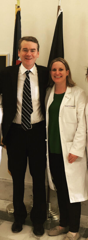 Dr. Emily Schneider met with political leaders like Colorado Senator and presidential candidate Michael Bennet to discuss women's health and physician advocacy | CU Medicine OB-GYN East Denver (Rocky Mountain) | Denver